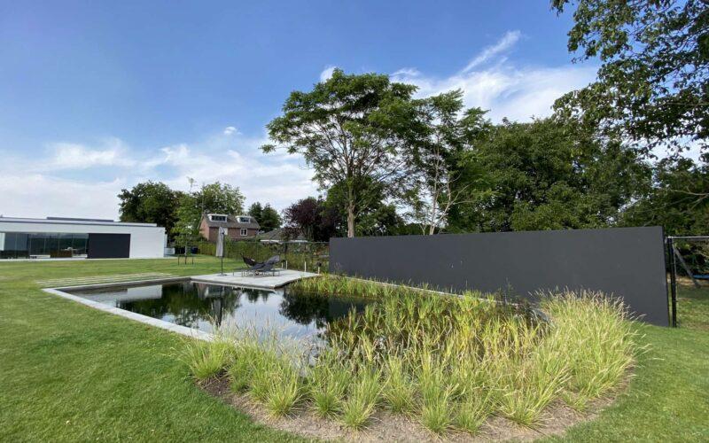 Moderne tuin met zwemvijver – Veldhoven